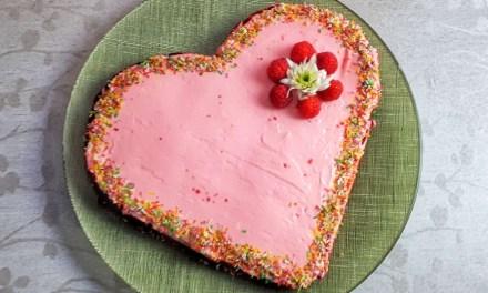Valentine's Day Dessert – Red Velvet Heart-Shaped Keto Cake