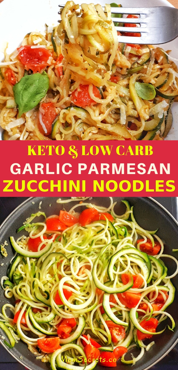 Learn how to make spiralized zucchini with garlic and parmesan that is so satisfying and delicious and makes an amazing keto dish!