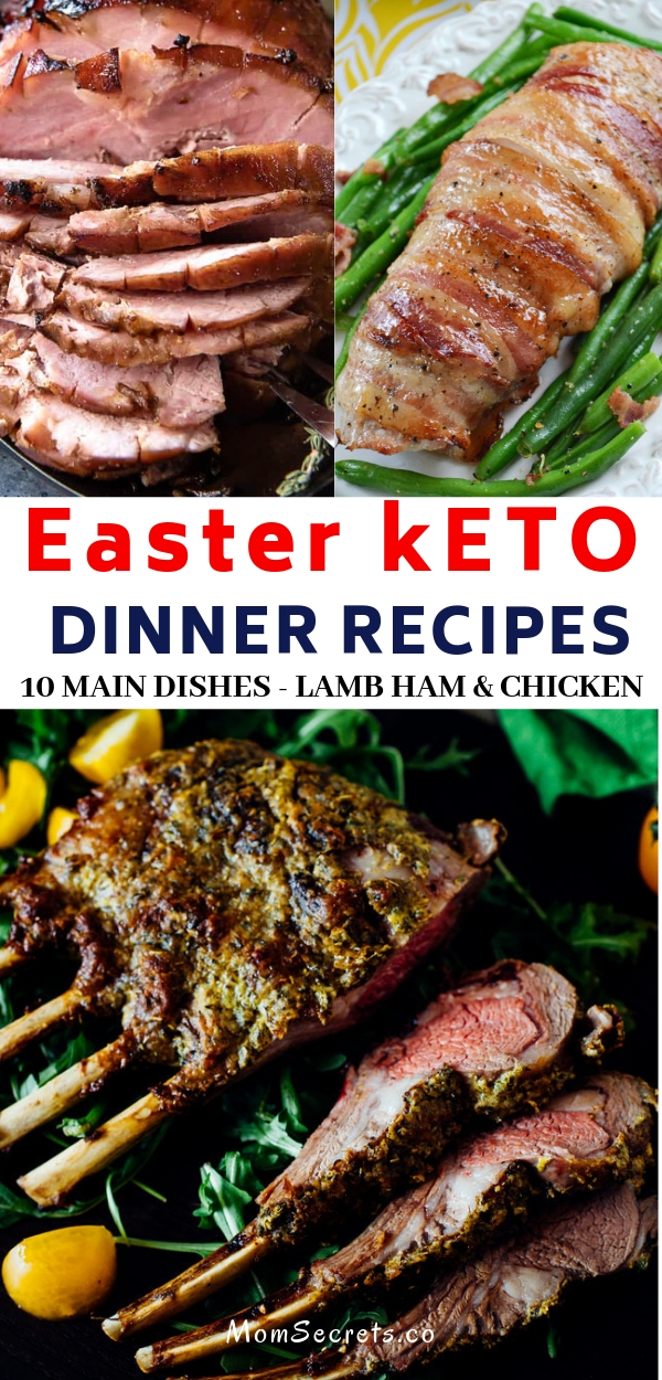 This collection of Easter recipes includes ham, lamb, beef and chicken. They all make a special keto, low carb and whole30 main dish for Easter.