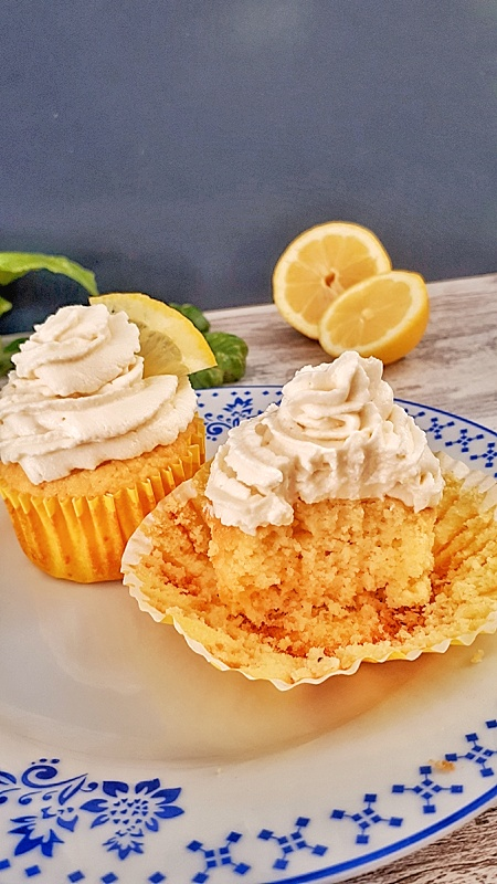 Keto Lemon Cupcakes topped with an irresistible mascarpone cheese frosting are packed with fresh lemon flavor! These are the best homemade cupcakes!