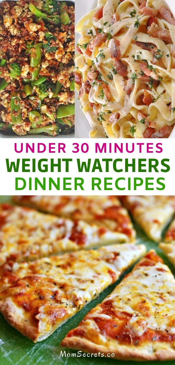These are the best weight watchers dinner recipes and all of them takes less than 30 minutes to be on your table. #weightwatchers #weightwatchersdinners