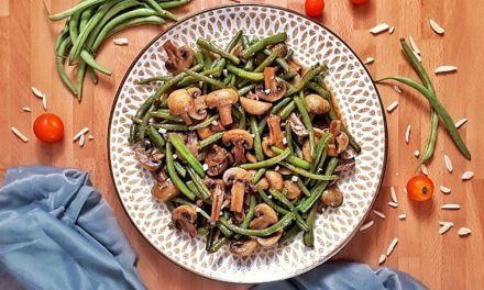 Keto Teriyaki Green Bean Mushroom