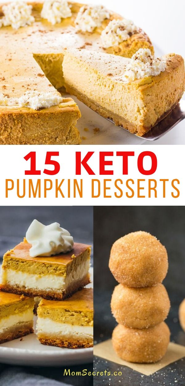 In this roundup, you can find all of pumpkin desserts: cheesecake, pie, cookies, cupcakes, muffins... They are sugar-free, low carb and keto-friendly.