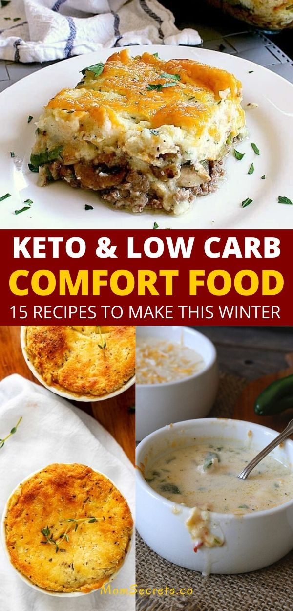 Looking for delicious keto comfort food? Here you can find 15 keto low carb comfort food recipes to warm you up this winter. #ketocomfortfood