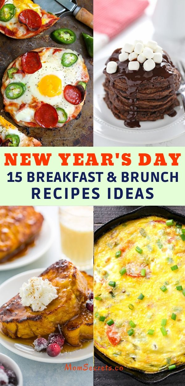15 Breakfast & Brunch recipes Ideas for New Years Day are easy to make, and totally delicious. We have savory and sweet recipes for you. #breakfast # brunch