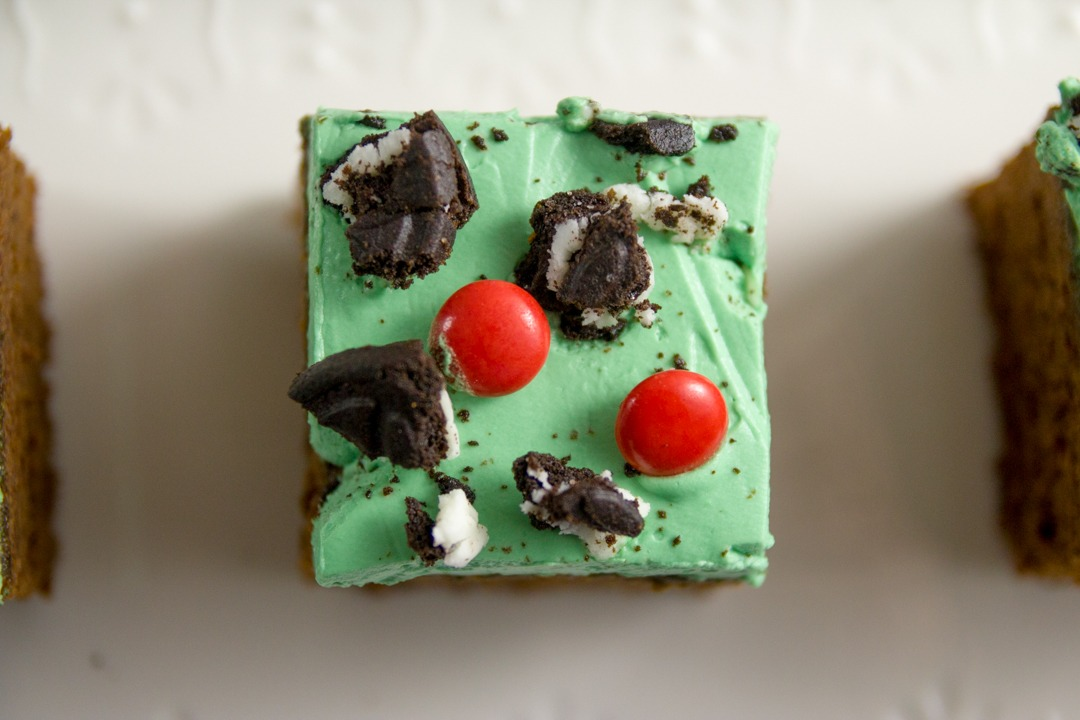 Turn an ordinary pan of brownies into The Grinch brownies for a fun, festive treat for the kids on Christmas night.