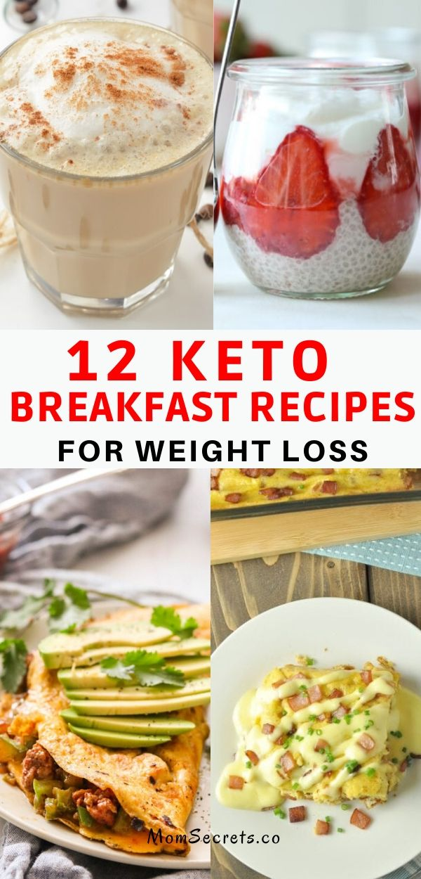 Are you looking for the best keto breakfast recipes to eat on your ketogenic diet? Here you' ll find the 12 easy keto breakfast recipes to lose weight.