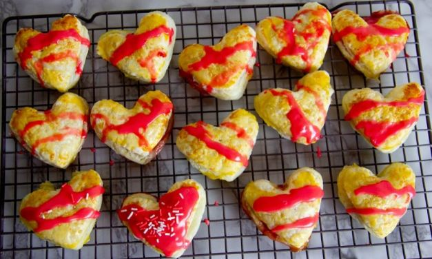 Valentine's Day Heart-Shaped Strawberry Nutella Hand Pies