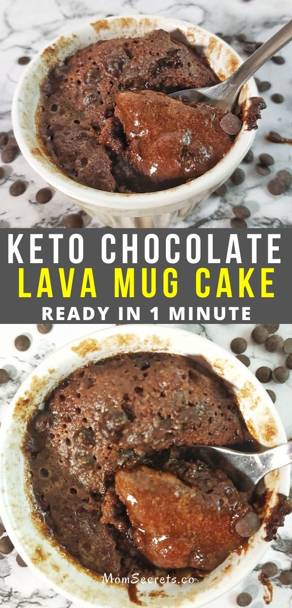 This easy Chocolate Lava mug cake is incredibly easy to make, ridiculously low carb, and full of rich chocolate decadence.