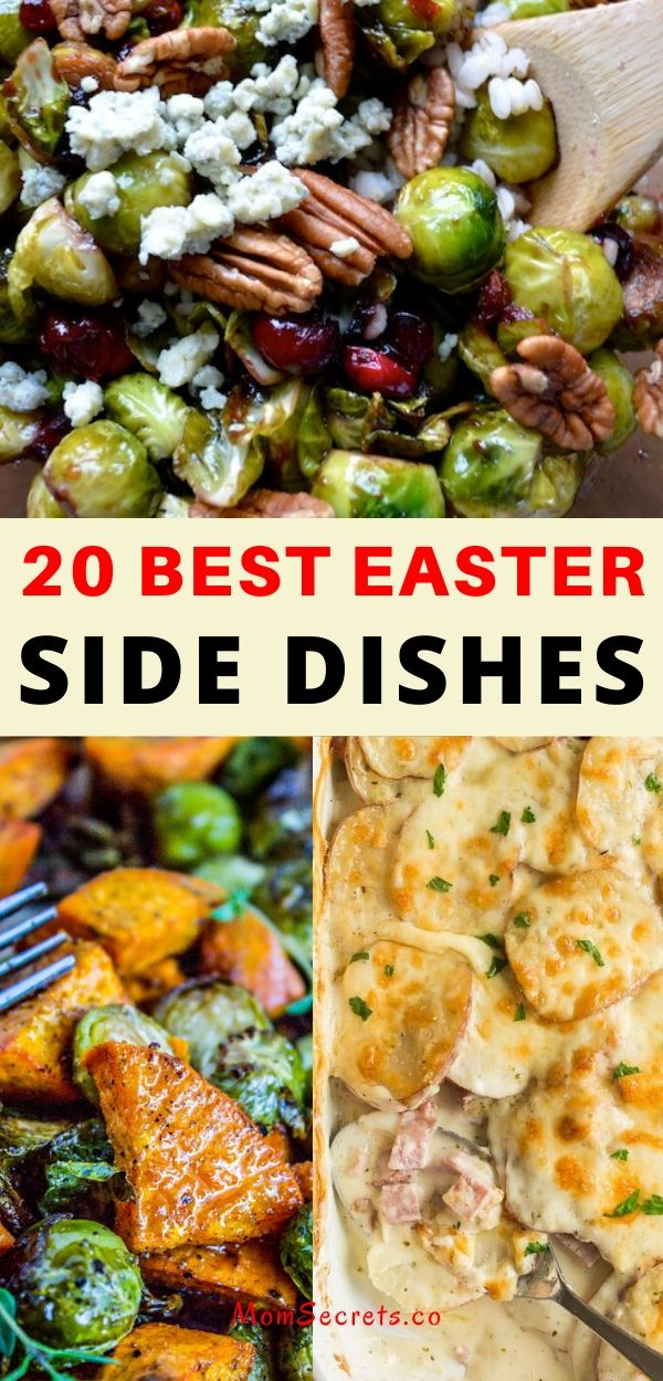 We have for you a collection of 20 Amazing Easter Side Dishes to help you with your Easter celebrations! You don't want to miss these recipes!