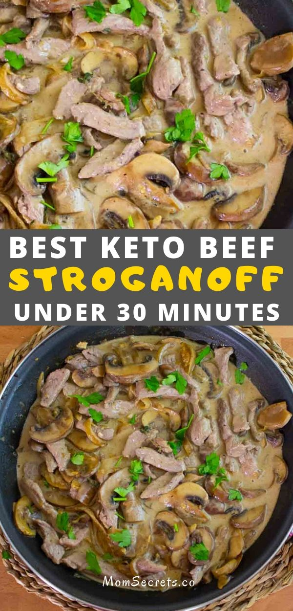 If you love hearty meals, it doesn't get much better than this Keto Beef Stroganoff! This low-carb keto-friendly version is my family's favorite!