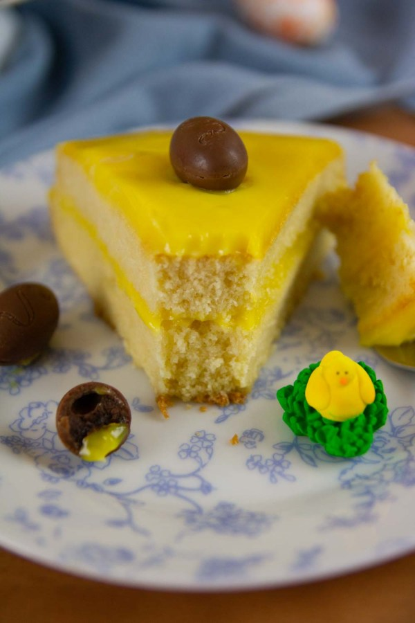 This Homemade Yellow cake is ultra-rich, moist, tender, and fluffy! This is perfect for a Birthday Cake or for any other celebration, like Easter.