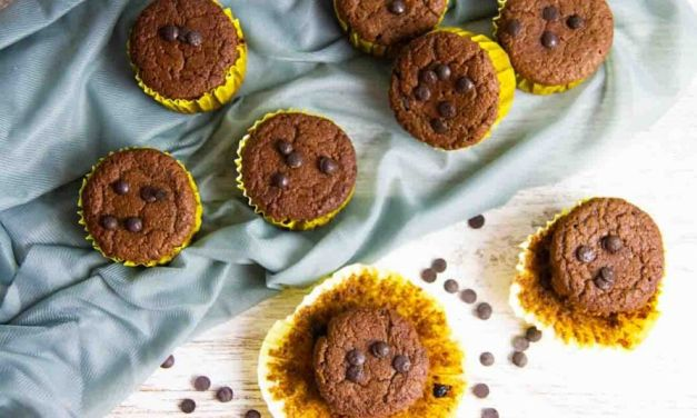 Easy Keto Low Carb Mocha Chocolate Chip Muffins