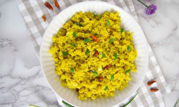 Keto Low Carb Tumeric Cauliflower Rice