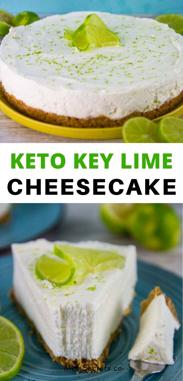Key lime cheesecake is one of the most delightful desserts. This No-Bake Keto Key Lime Cheesecake is tangy, delicious, creamy, and so easy to make. #ketocheesecake