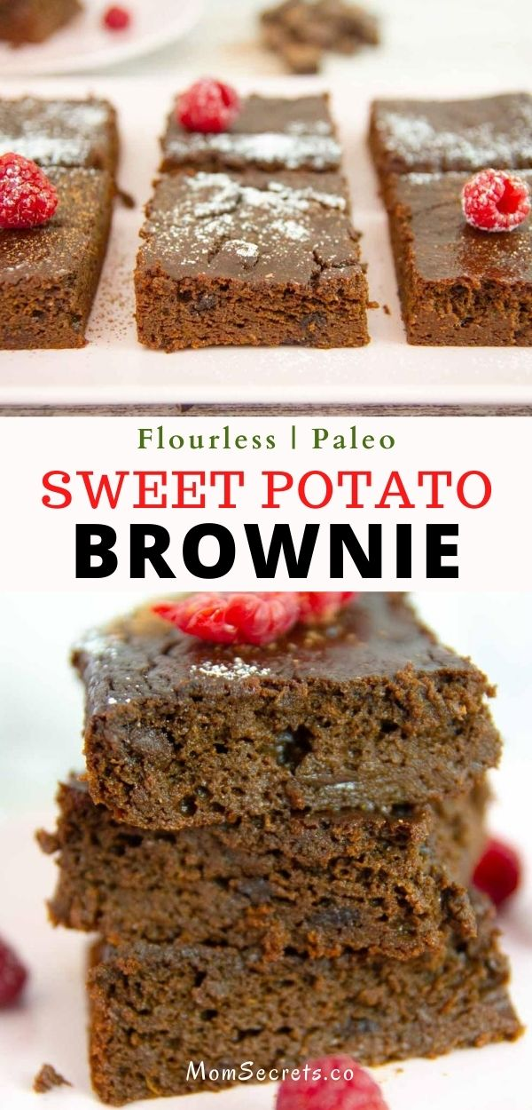 Flourless Paleo Sweet Potato Brownies made with only 7 ingredients! They make a deliciously healthy treat for when those chocolate cravings hit.