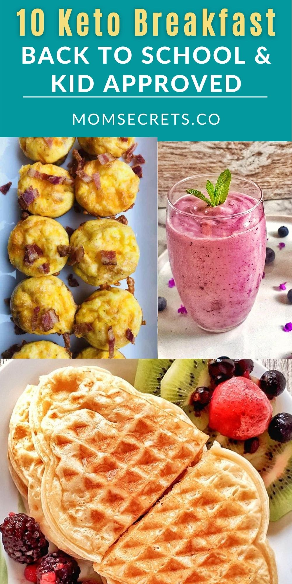 These 10 Keto Breakfast ideas are perfect for back to school and totally kid-approved. They're surprisingly easy to make! #ketobreakfast #kidsbreakfast