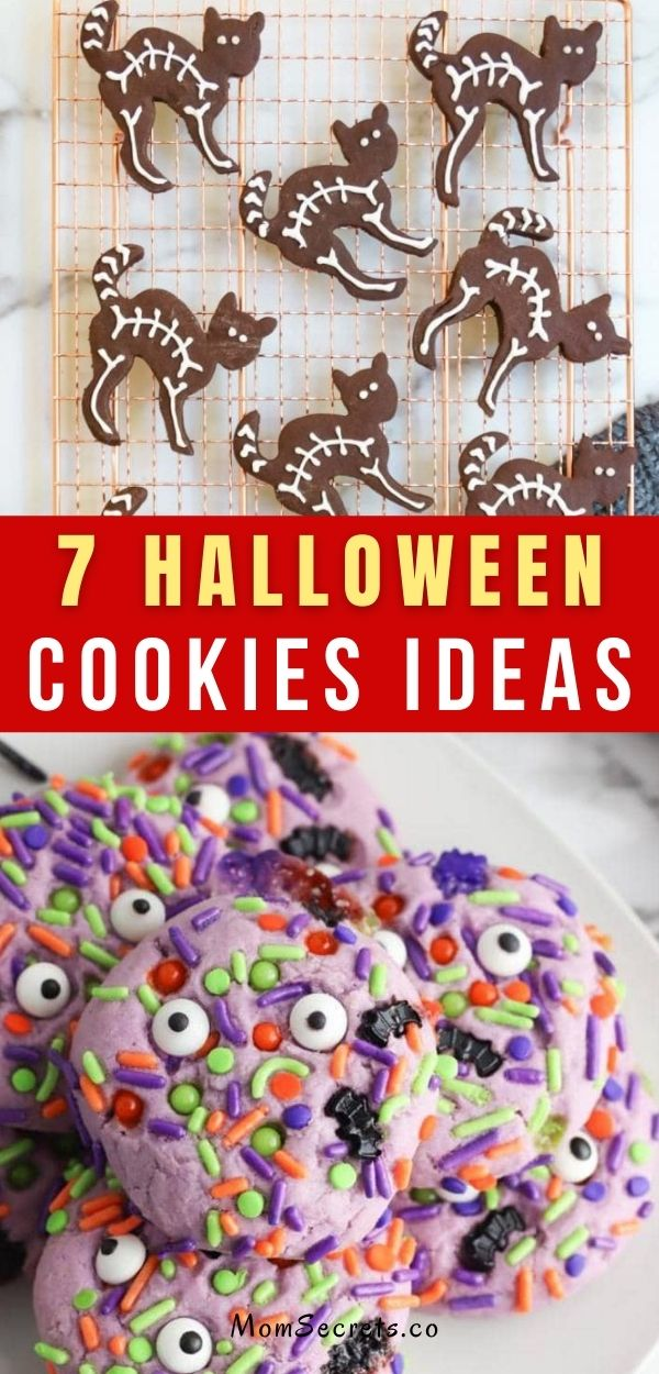 These Halloween Cookie's ideas will satisfy your dreams! These could also be a surprise for the kids stopping. #halloween #halloweentreats #halloweencookies