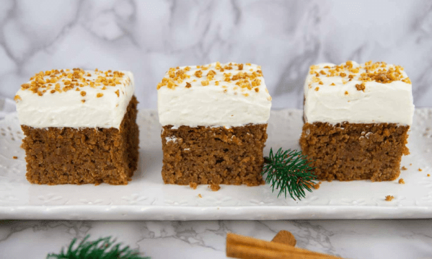 Keto Gingerbread Cake with Mascarpone Cheese Frosting