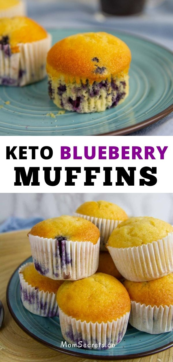 Keto Blueberry Muffins are an easy, sweety low carb breakfast, snack or dessert that´s ready in just 30 minutes! This is my best blueberry muffins recipe! #breakfast #blueberriesmuffins #ketomuffins #lowcarb #sugar-free #ketodessert