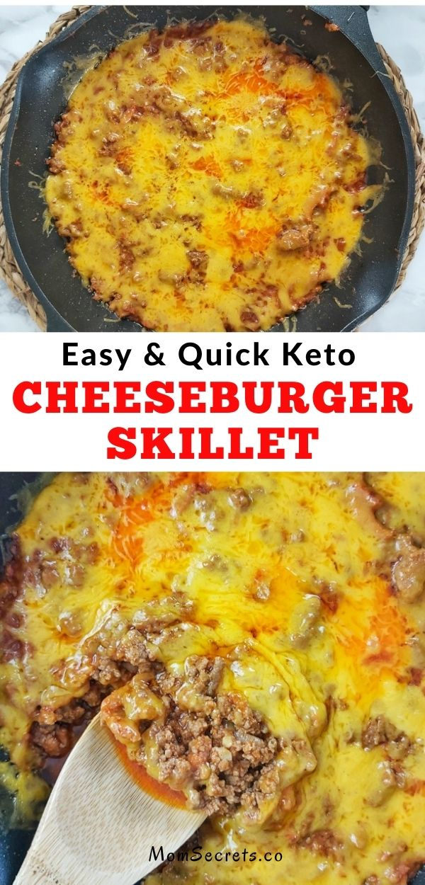 This Keto Cheeseburger Skillet Recipe is perfect for meal prepping for the week. It's great for low carb and keto diets, gluten-free, and is ready in under 20 minutes!