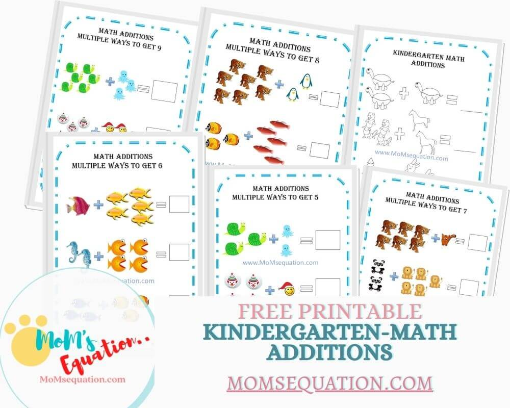 hight resolution of Addition Worksheets For Kindergarten -Free Printables - Mom'sEquation