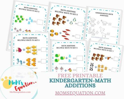 small resolution of Addition Worksheets For Kindergarten -Free Printables - Mom'sEquation