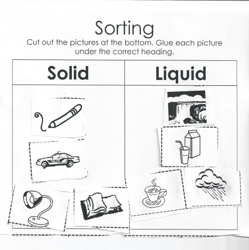 NEW 912 FIRST GRADE SOLID LIQUID GAS WORKSHEET