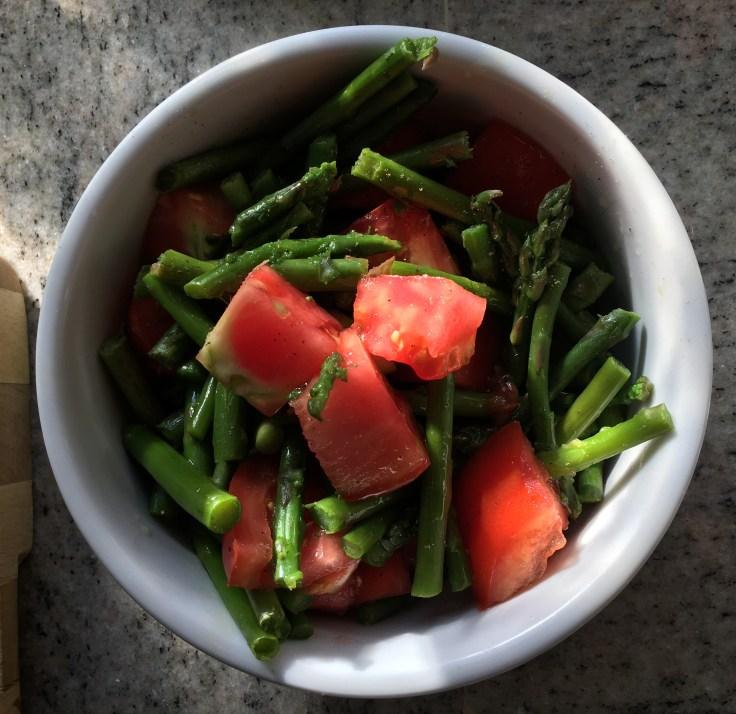 5 Minute Asparagus & Tomato Salad