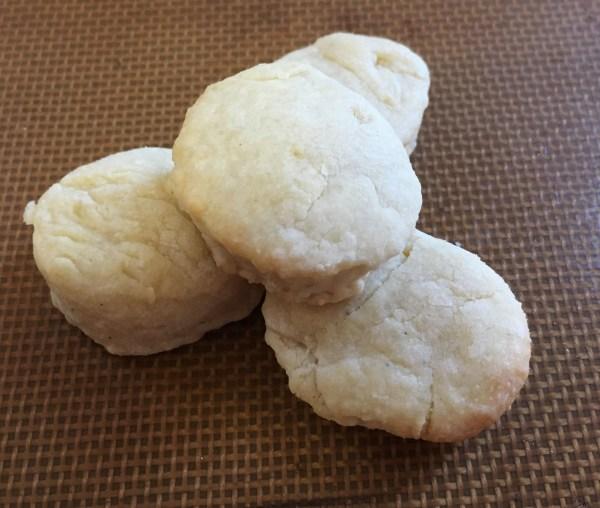Baked orange nutmeg scones