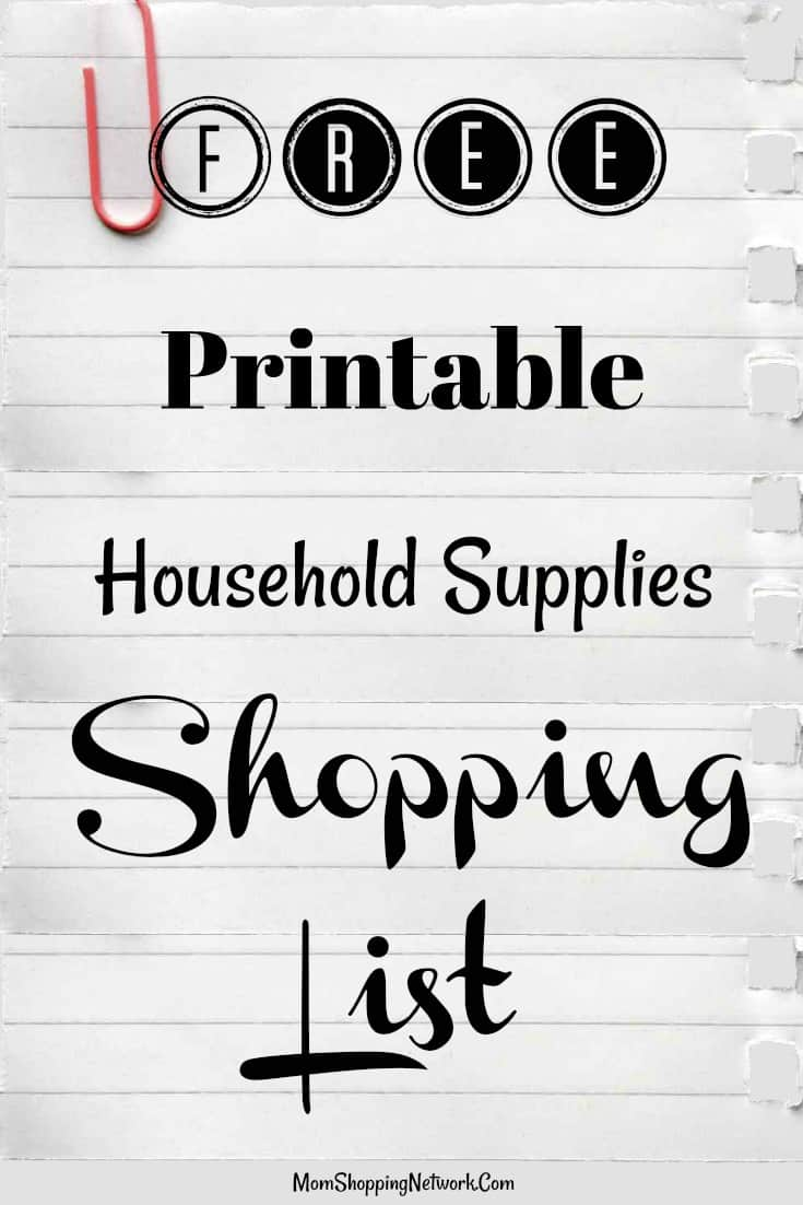 This Free Printable Household Supplies Shopping List Will Definitely Help  Keep Me Organized At The Store