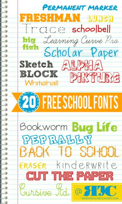 Elementary School Font : elementary, school, School, Fonts, MomSkoop