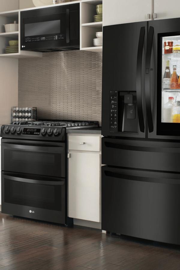 best buy kitchen appliances cabinet doors replacement stylish lg matte black at