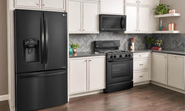 black kitchen appliances printer stylish lg matte at best buy