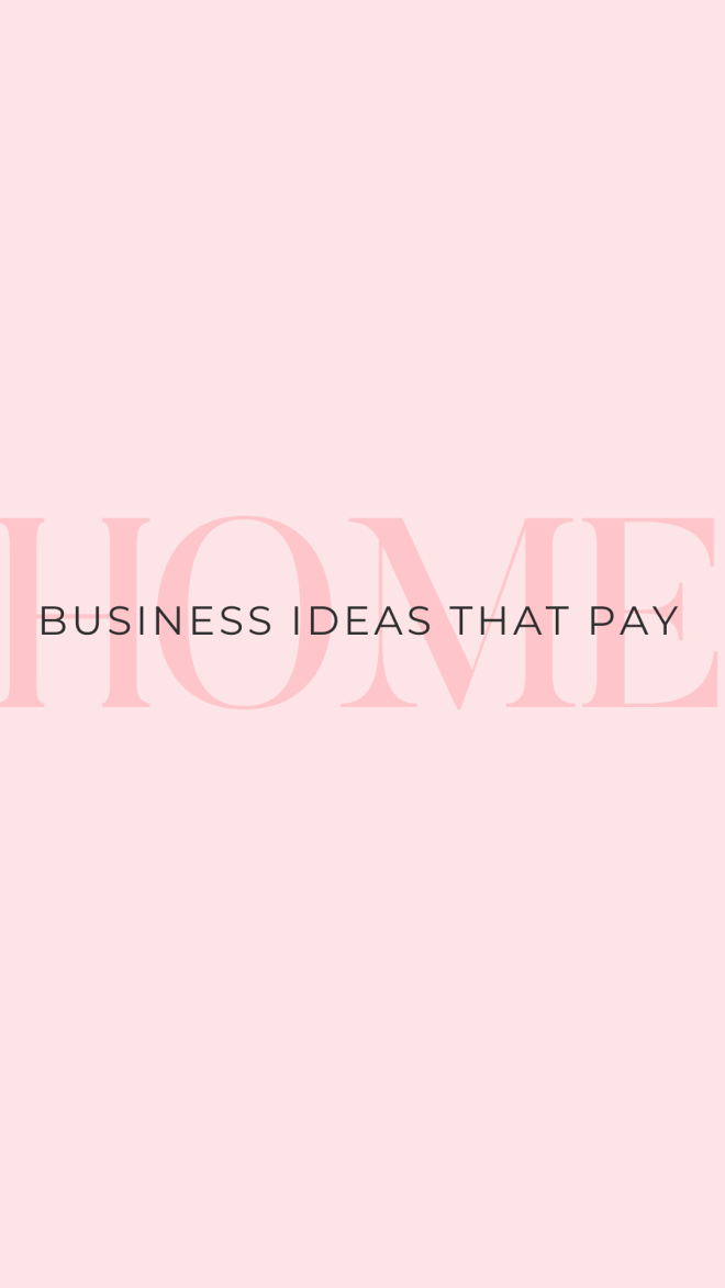 Home business ideas - work from home