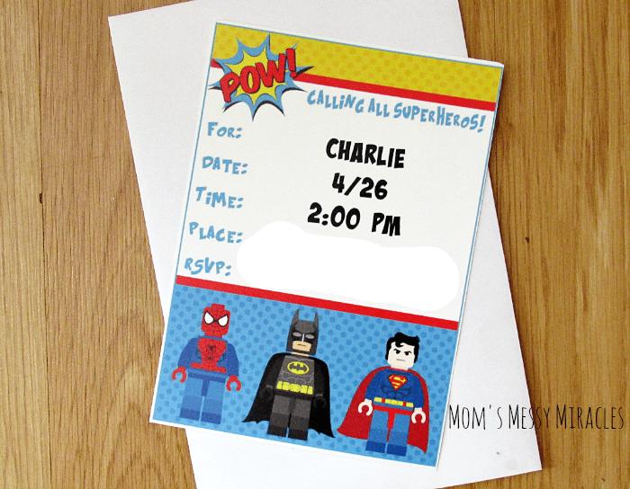 lego superhero party the shirley journey