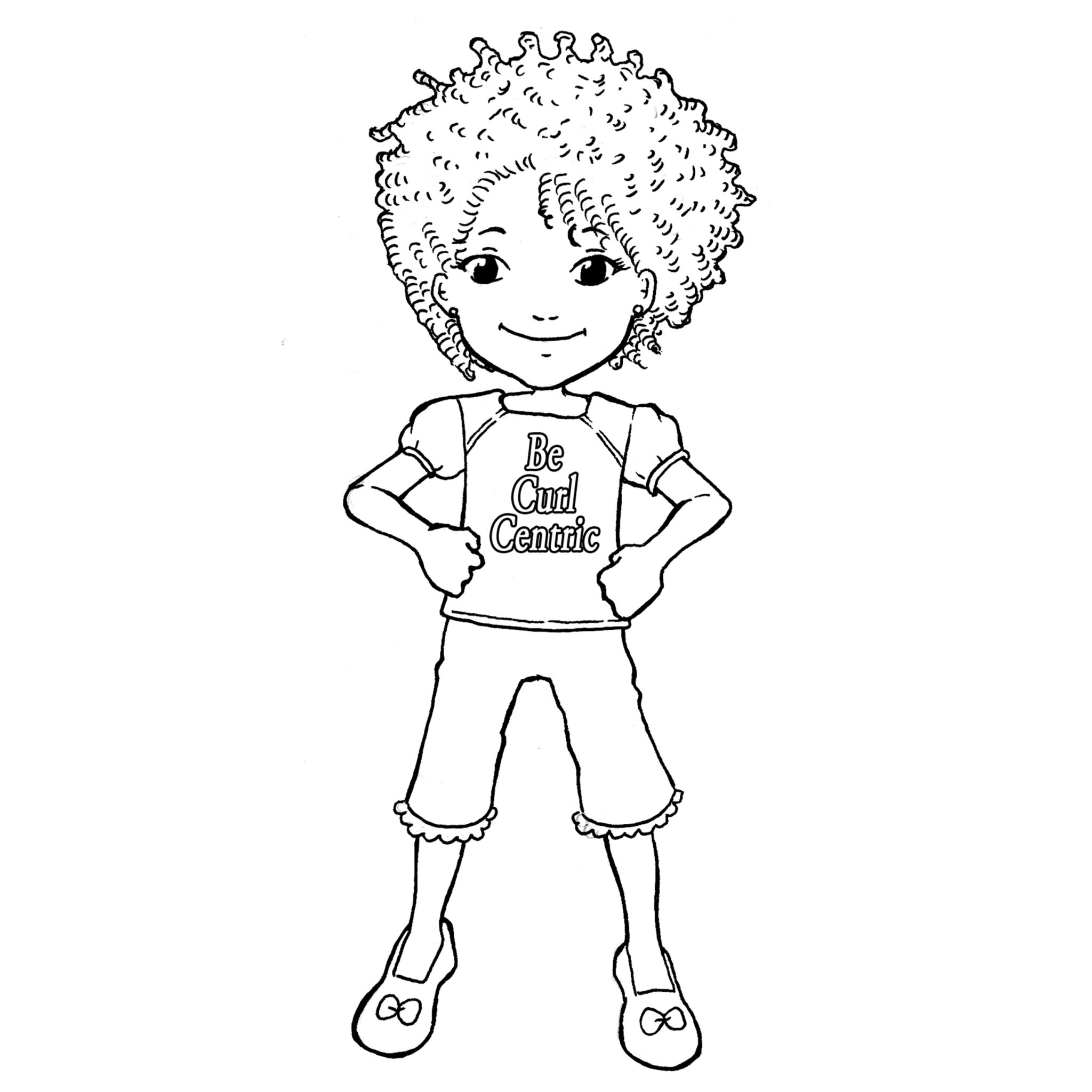 Teach Your Girls To Love Their Curls With Becurlcentric Coloring Book