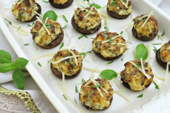 Sausage Stuffed Mushrooms with Ricotta Cheese myf