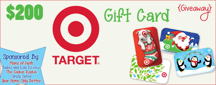 $200 Target Gift Card Christmas Giveaway