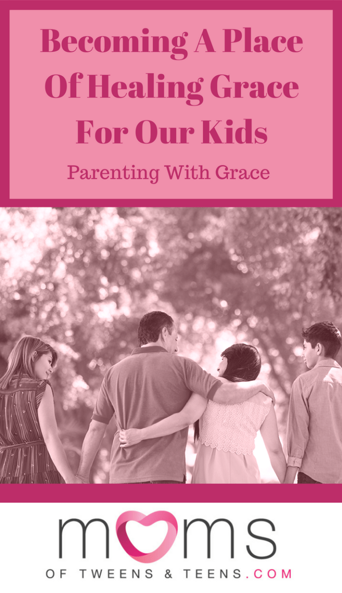 For me, parenting with grace has been messy and it hasn't been easy. Extending grace to my children has been an ongoing bloody battle from within.  #teen #teen #boy #girl #forgiveness #grace #healing