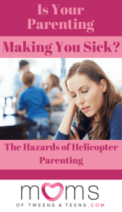 overwhelmed mom helicopter parent
