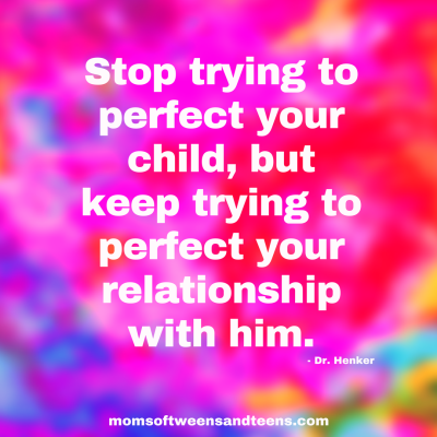 Stop Trying To Perfect Your Child