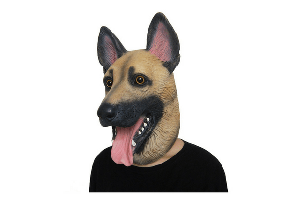 best dog german shephard head mask teen tween