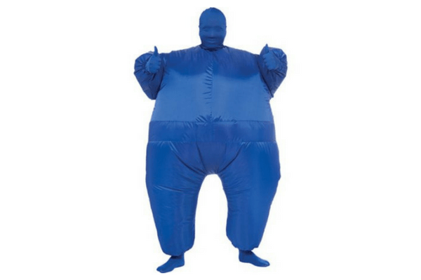 funny blow up suit for teen or tween