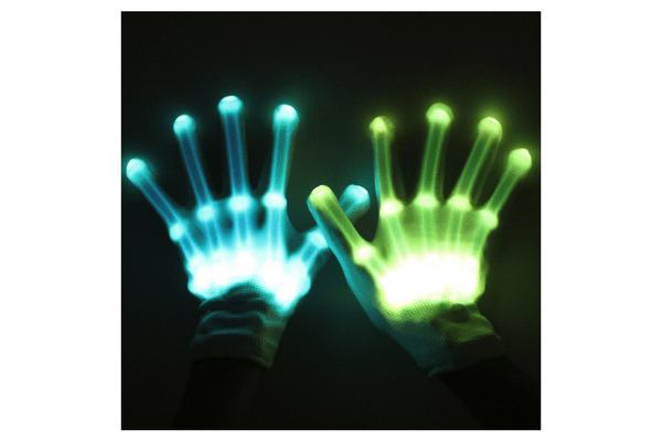 skeleton gloves light up teen tween