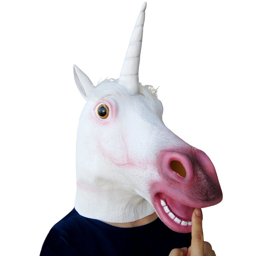 best unicorn head mask costume for tween or teen
