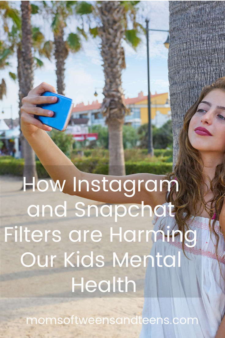 Instagram and Snapchat filters are causing an epidemic of teens and tweens being unhappy with their appearance as they compare it to their peers on social media. #teens #tweens #girls #snapchat #instagram #filters #mentalhealth
