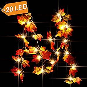 fall leaf garland thanksgiving