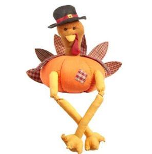 turkey shelf sitter thanksgiving plush