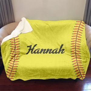 Softball Sherpa Blanket